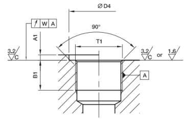 чертежи Исполнения и стандарты ввертных соединений FORM Е, FORM G, FORM H, FORM B, FORM A, FORM X, ISO 6149-1, ISO 11926-1, DIN ISO 6149-2/3