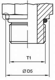 чертеж не регулируемое герметичное ORB male соединение O-Ring Boss ISO6149-2/3 ISO1179 ISO11926-2/3