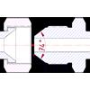 определение типа и размерности дюймового JIC фитинга по резьбе и форме ниппеля