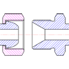 определение типа и размерности метрическогоDKOL DKOS DKI DK фитинга по резьбе и форме ниппеля