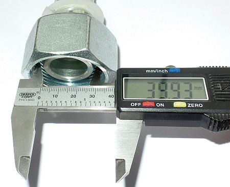 Как измерить внутреннюю резьбу гайки фитинга