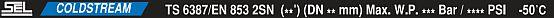 маркировка SEL COLDSTREAM 2SN DIN EN853 2SN SAE 100R2AT/ISO 1436 CS-HWB323