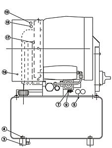 Деталировка запчастей для ремонта FINN-POWER P32 чертеж вид сбоку слева
