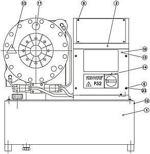 Деталировка запчастей для ремонта FINN-POWER P32 чертеж вид спереди