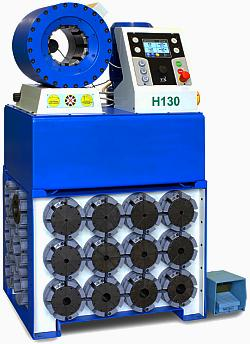 Радиальный обжимной пресс TUBOMATIC H130 ES для опрессовки гидрошлангов РВД Италия OP Slr