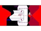 Чертеж и размеры на фитинг для РВД угловой 90гр BSP(Г) штифтованная гайка трубная MultiFit