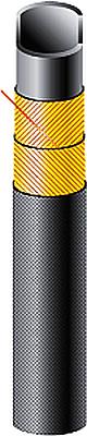 Напорный рукав абразивостойкий SEMPERIT SOSP antiabrasiv Silo D PN6bar для подачи силоса, цемента, песка, щебня, гранулята, гравия