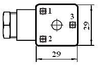 Электрические разъемы по DIN43650 для электромагнитных распределителей DKE, DKER ISO 4401 CETOP 05