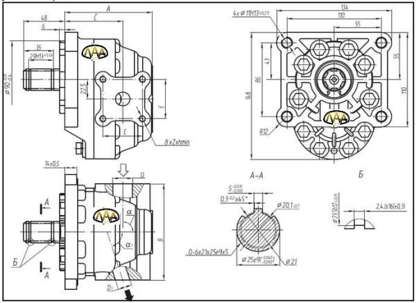 продажа шестеренный насос НШ-50 Мастер характеристики