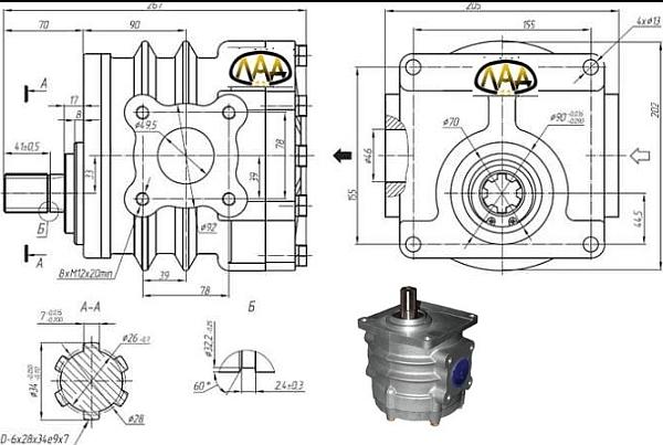 шестеренный насос НШ-71 Антей характеристики