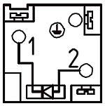 Электрические разъемы DIN 43650-A/ISO 4400 распределителей ATOS DHI, DHU, DHO ISO 4401 CETOP 05 - Подключение разъема E-SD<sup>(2)</sup>/DC