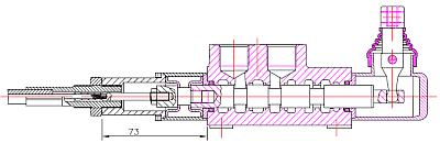 Распределитель моноблочный Badestnost Z80, Z-80 A1 с двойным управлением тросиком и рычагом