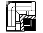 Адаптер угловой 90гр с корпусной внутренней резьбой