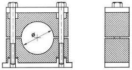 трубные зажимы DIN3015/2 колодки DIN 3015 тяжелой серии