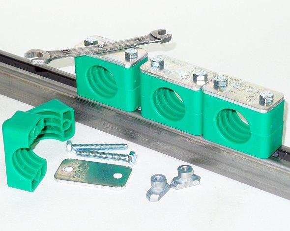 трубный держатель на рельсе DIN 3015 трубные колодки кронштейны крепления DIN 3015 на DIN рейку трубы шлангов и кабелей