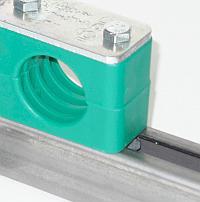 Монтажные рельсовые направляющие рейка для колодки DIN 3015 под трубы и кабеля