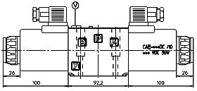 Габаритные размеры DKE, DKER ISO 4401 CETOP 5