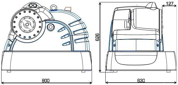 габаритные размеры на станок для обжимки гидрошлангов кримпер FINN-POWER 20MS 380v 137тонн